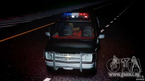Chevrolet G20 Police Van [ELS] für GTA 4 obere Ansicht