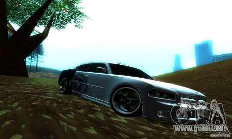 Dodge Charger SRT8 Mopar für GTA San Andreas zurück linke Ansicht