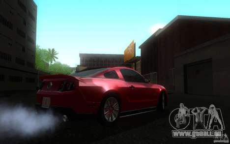 Ford Mustang GT V6 2011 pour GTA San Andreas sur la vue arrière gauche