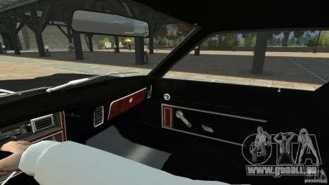 Plymouth Volare Coupe 1977 pour GTA 4 vue de dessus