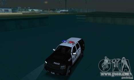 Chevrolet Suburban 2007 LSPD für GTA San Andreas Innenansicht