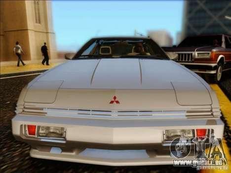 Mitsubishi Starion ESI-R 1986 pour GTA San Andreas sur la vue arrière gauche