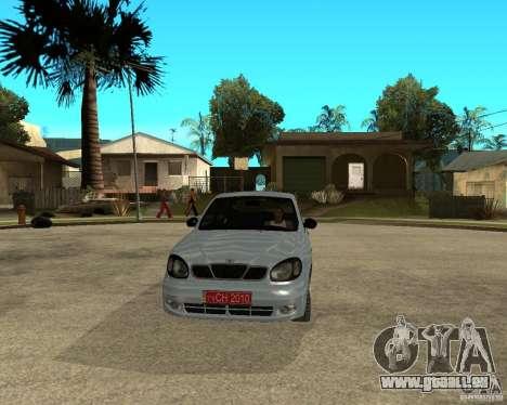 Daewoo Lanos für GTA San Andreas Rückansicht
