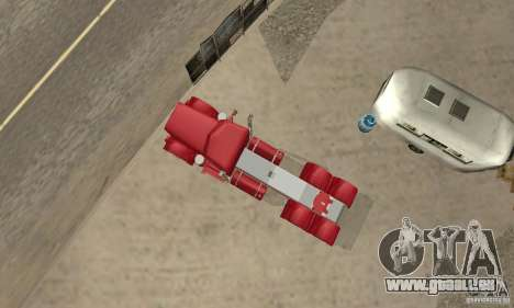Peterbilt Coupe pour GTA San Andreas vue arrière