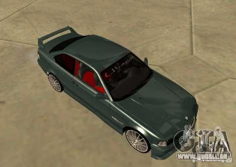 BMW E36 Coupe pour GTA San Andreas sur la vue arrière gauche