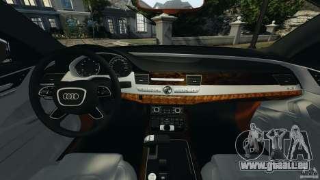 Audi A8 Limo v1.2 für GTA 4 Rückansicht