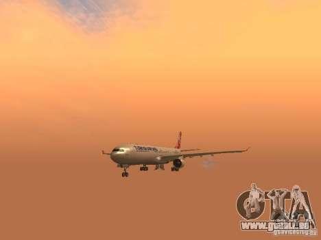 Airbus A330-300 Turkish Airlines für GTA San Andreas Innenansicht