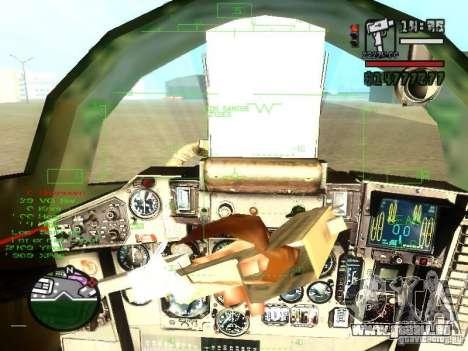 MIG-29 OVT für GTA San Andreas Seitenansicht