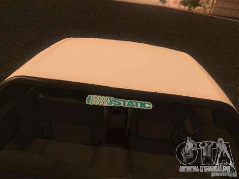 Nissan Skyline GTS R32 JDM pour GTA San Andreas vue intérieure