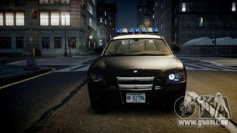 Dodge Charger Florida Highway Patrol [ELS] pour GTA 4 est une vue de l'intérieur