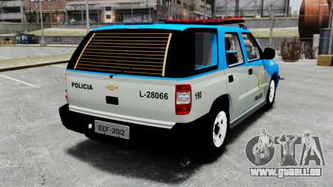 Chevrolet Blazer 2010 PMERJ ELS pour GTA 4 Vue arrière de la gauche