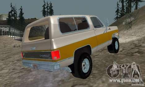 Chevrolet Blazer 1979 für GTA San Andreas linke Ansicht