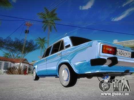 VAZ 2106 rétro V2 pour GTA San Andreas sur la vue arrière gauche