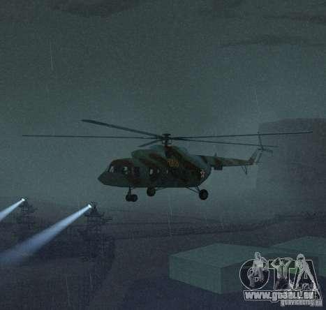 Militaires MI-17 pour GTA San Andreas laissé vue