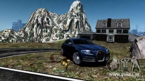 Bugatti Galibier 2009 pour GTA 4 est un côté