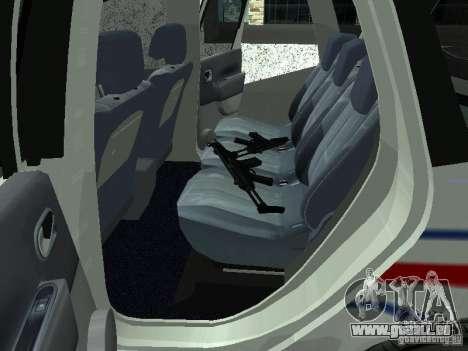 Renault Scenic II Police für GTA San Andreas rechten Ansicht