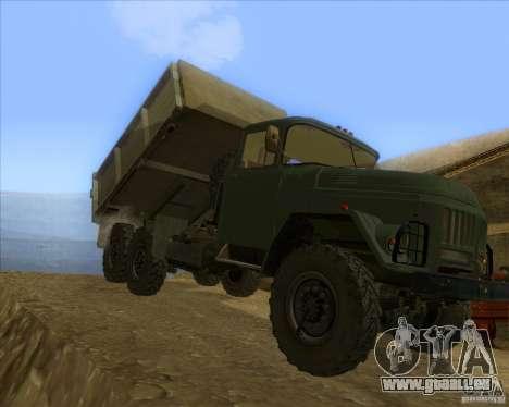 ZIL 131 camion pour GTA San Andreas laissé vue