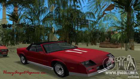 Chevrolet Camaro Convertible 1986 pour GTA Vice City