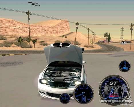 Bmw 330 Tuning pour GTA San Andreas sur la vue arrière gauche