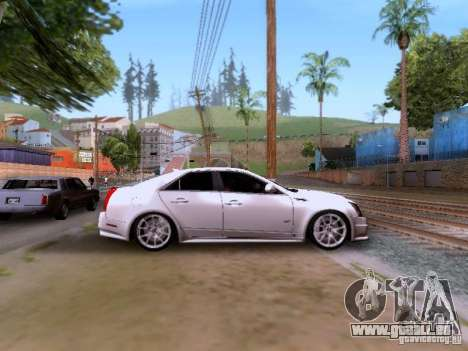 Cadillac CTS-V 2009 für GTA San Andreas Innenansicht