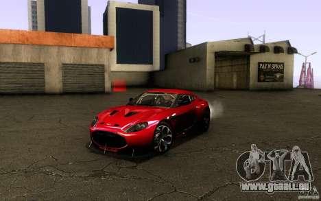 Aston Martin Zagato V12 V1.0 pour GTA San Andreas vue intérieure