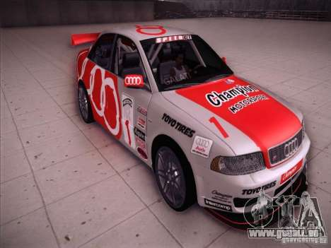 Audi S4 Galati Race für GTA San Andreas Rückansicht