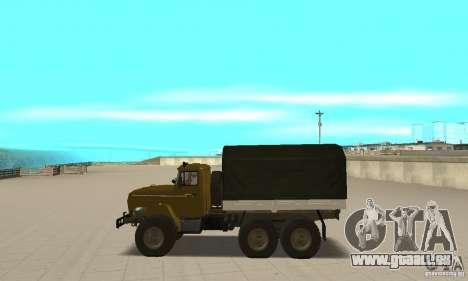 Ural 4320 pour GTA San Andreas laissé vue