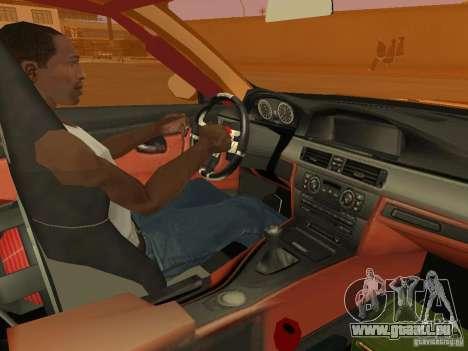 BMW M3 E92 DriftRoots pour GTA San Andreas vue arrière