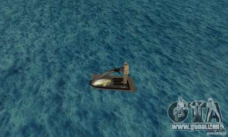 Scooter de mer pour GTA San Andreas laissé vue