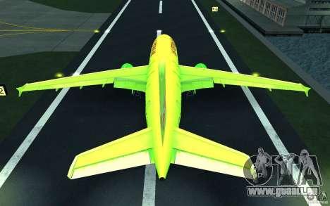 Airbus A310 S7 Airlines für GTA San Andreas Unteransicht