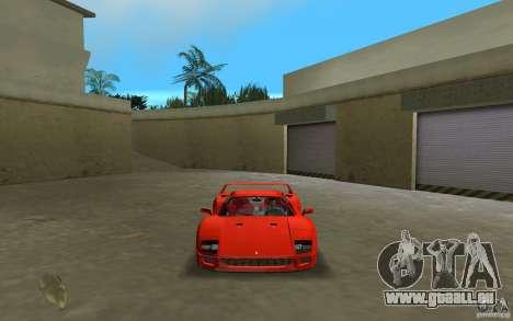 Ferrari F40 für GTA Vice City rechten Ansicht