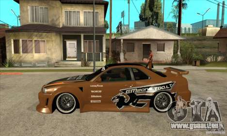 Nissan Skyline GTR - EMzone B-day Car pour GTA San Andreas laissé vue