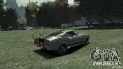 Ford Shelby GT500 Eleanor für GTA 4 hinten links Ansicht