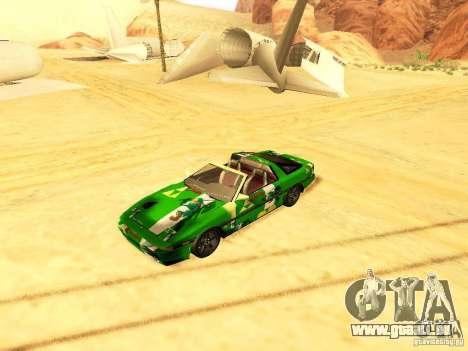 Toyota Supra für GTA San Andreas obere Ansicht