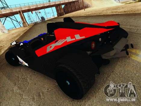 KTM X-Bow 2013 pour GTA San Andreas laissé vue