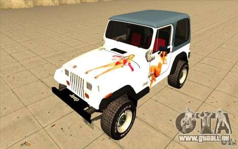 Jeep Wrangler 4.0 Fury 1986 pour GTA San Andreas vue de côté