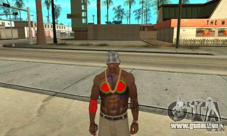 Cool Tattoo bei CJ-ich auf den Körper für GTA San Andreas