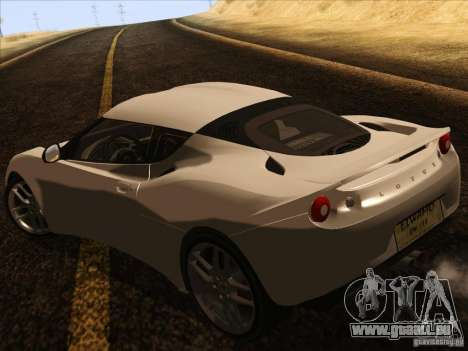 Lotus Evora für GTA San Andreas rechten Ansicht