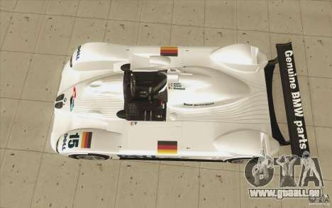 BMW V12 LeMans - Stock pour GTA San Andreas vue de droite