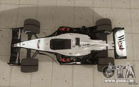 McLaren Mercedes MP 4-19 für GTA San Andreas rechten Ansicht