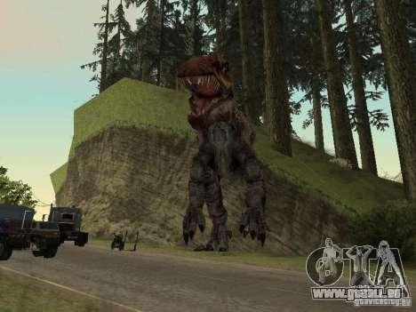 Dinosaurs Attack mod für GTA San Andreas siebten Screenshot