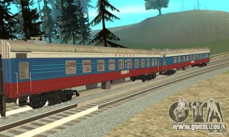 La voiture des chemins de fer russes Russie pour GTA San Andreas laissé vue