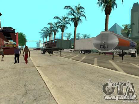 American Trailers Pack für GTA San Andreas Rückansicht