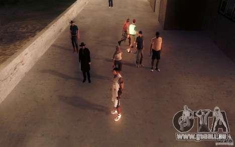 Sombras mais fortes em pedestres pour GTA San Andreas septième écran
