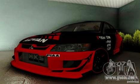 Mitsubishi Lancer Evolution 8 Tuneable pour GTA San Andreas vue intérieure