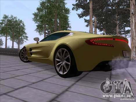 Aston Martin One-77 2010 pour GTA San Andreas laissé vue