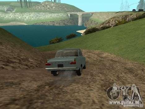 IZH 412 Moskvich für GTA San Andreas Innenansicht