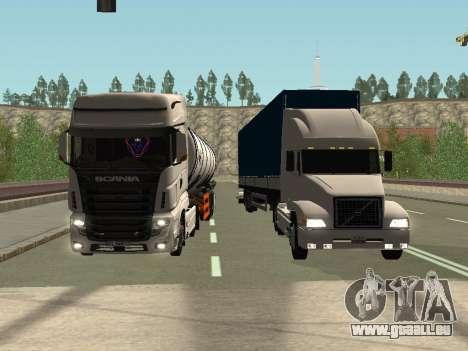 Volvo VNL pour GTA San Andreas vue de côté