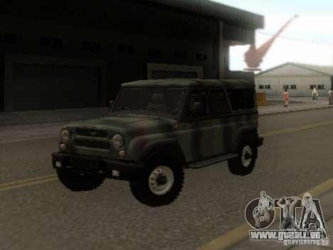UAZ-3153 für GTA San Andreas Rückansicht