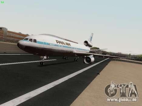 McDonell Douglas DC-10-30 PanAmerican Airways pour GTA San Andreas laissé vue